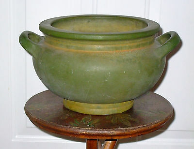 LARGE Early Matte Green Roseville Jardiniere