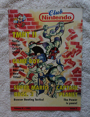 Club Nintendo Magazine (UK) - Volume 4 (1992) Issue 2 Video Game Gaming Official