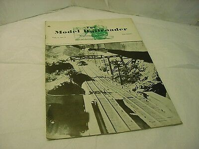Vintage September 1934 Vol 1 No 9 The Model Railroader Magazine