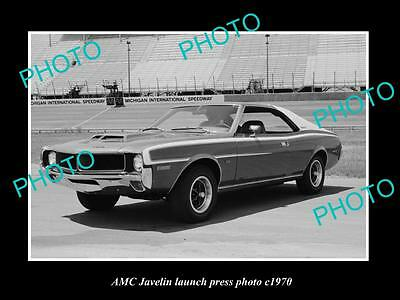OLD LARGE HISTORIC PHOTO OF AMC JAVELIN CAR LAUNCH PRESS PHOTO c1970 1
