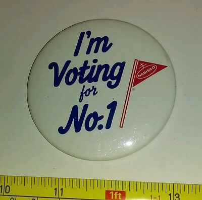 Vintage? I'm Voting for #1 Nabisco Pin Advertising Rare
