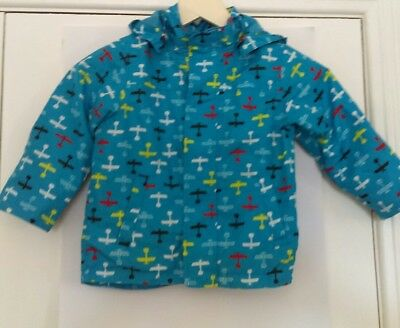 Name It Baby Boys Jacket, Blue Aeroplane Print, Size 18-24 months, cute, toddler