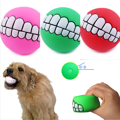 Gallant Funny Sound Dogs Play Toys Chew Squeaker Squeaky Pet Dog Ball Teeth Toy