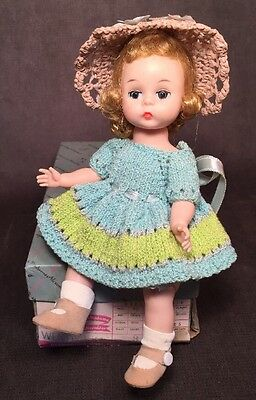 "Vintage Madame Alexander Wendy Kins 8"" Blonde Doll Crocheted Dress BKW TLC"