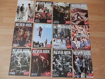 Lotof 12 Ray Ban Print Ads, Never Hide, 2013-2014