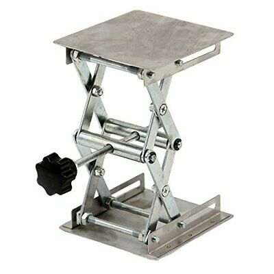 "HFS New 4"" X 4"" 100Mm Stainless Steel Lab Jack Scissor Stand Platform Lab"
