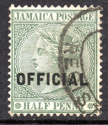 VICTORIA.  JAMAICA  1/2d OFFICIAL STAMP. VF USED AT 99p   #B0088