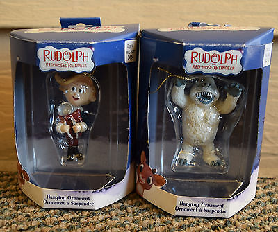 Enesco Rudolph Island of Misfit Toys Bumble HERMEY WITH HIS PLIERS Ornaments