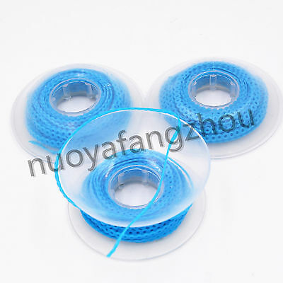 3Pc Dental Orthodontics Elastic Power Chain Short Type 15 Feet Light Blue Color