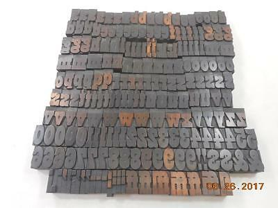 Printing Letterpress Printers Block, Unmarked Alphabet Wood Type, Antique