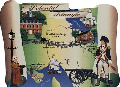 Cat's Meow Village Keepsake Colonial Triangle Map Virginia #07-101 NEW SHIP DISC