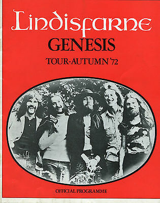 Original 1972 Genesis Lindisfarne concert program Foxtrot Tour Bristol UK