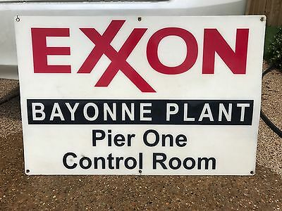 EXXON BAYONNE PLANT Pier One Control Room (Sign from From Demolished Pier)