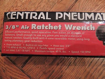 "Central Pneumatic Tools 47706 3/8"" Drive Air Ratchet Wrench"