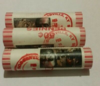 3 2009 Lincoln Cent Roll Lp1 Red Cancelation   Hodgenville