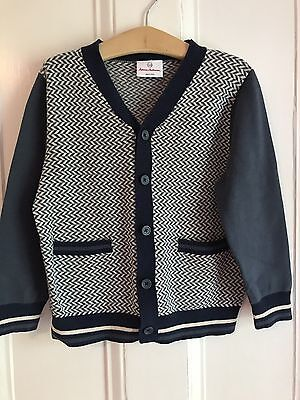 Hanna Andersson Cardigan Sweater Boys' Size 110 5 years EUC -- So Sharp!