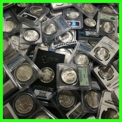 ✯Estate Coin Lot US Morgan Silver Dollars ✯1 PCGS or NGC UNC ✯ O, S, P, CC Mint✯