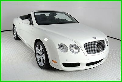 2007 Bentley Continental GT GTC Convertible 2-Door 2007 Bentley Continental GTC, Glacier White/Beluga Black, EXTREMELY TIDY, 6,174M