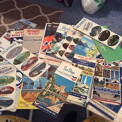 Lot Of 55 Vintage Road Maps, Standard Oil, 76, Sinclair, Dx, Pure And More