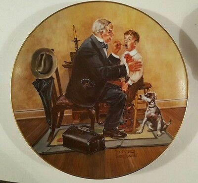 """Norman Rockwell """"Country Doctor"""" Strictly Limited 60 Day Firing Period"""