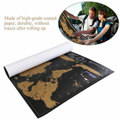 Big Deluxe Travel Edition  Off World Map Poster Personalized Journal Log USA