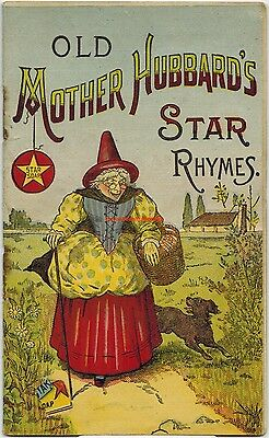 1880 Victorian Star Soap Advertising Pamphlet Chromo Illustrated Nursery Rhymes