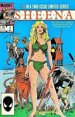 1984 SHEENA #1 Queen Of The Jungle ~ Official Movie Adaptation ~ @LOOK@