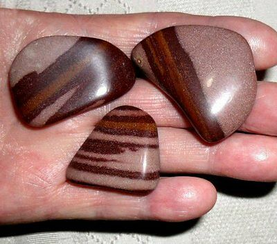 Set of 3 Jasper Lingham 50grams from Ganges River India ~ Energy Flow Chakra