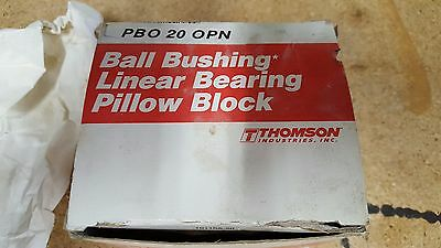 Thomson Ball Bushing Linear Bearing Pillow Block, PBO 20 OPN, PBO-20-OPN, NIB