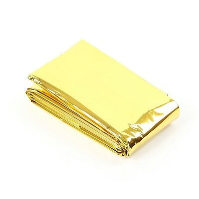 Waterproof Outdoor Rescue Blanket Emergency Survival Foil Thermal First Aid gold