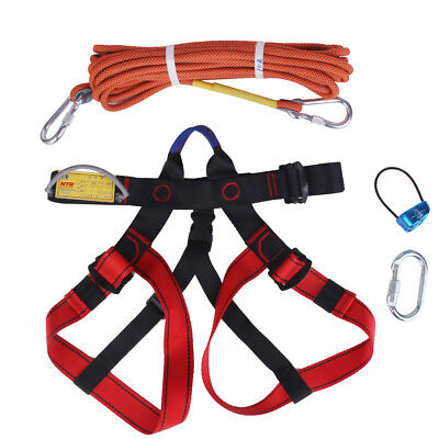 1 Set Rock Climbing Kit Safety Harness, Rappel Belay, Carabiner, Rope Equip
