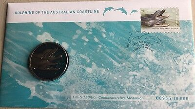Dolphins Of The Australian Coastline First Day Cover