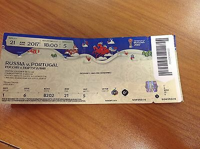 Russia - Portugal 21/06/2017 FIFA Confederations Cup used ticket