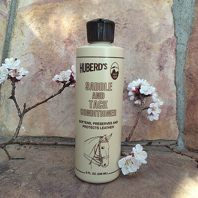 Saddle and Tack Conditioner, softens, Preserves and Protects Leather 8oz bottle.