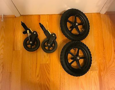 """Bugaboo Cameleon or Frog Baby Stroller set of 2 front Wheels swirl 6"""" parts Pair"""