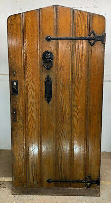 Arched Solid Oak Front Door Old Period Wood Antique Reclaimed Wood Cast Iron