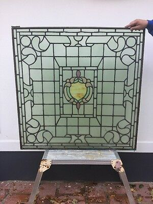 Stained Glass Period Window Nouveau Feature Antique Old Lead Copper Reclaimed.