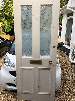 Bespoke Victorian Etched Glass Front Door Period Old Reclaimed Antique Wood