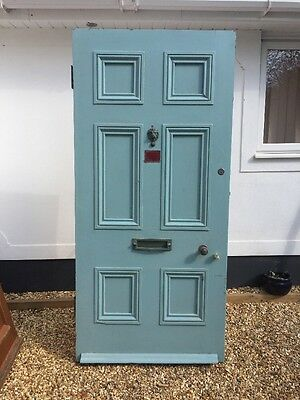 Very Large Victorian Front Door Wood Reclaimed Old Period Antique Pine C1870.