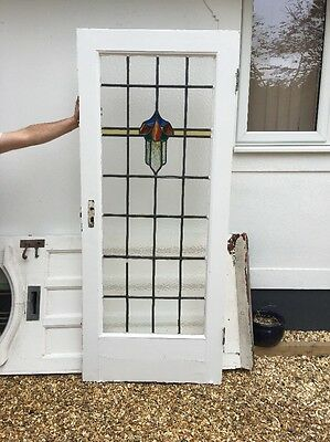 Victorian Stained Glass Door Porch Reclaimed Period Old Antique Lead Vestibule 1