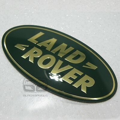 Land Rover Discovery 4 Bigger Large Front Oval Grill Badge Green Gold 09-14