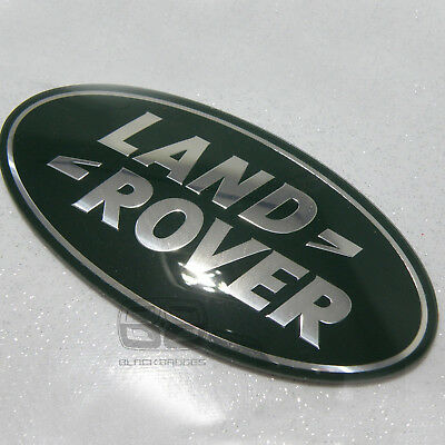 Land Rover Discovery 4 Bigger Large Front Oval Grill Badge Green Silver 09-14