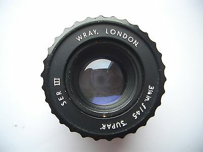 "WRAY SUPAR III  31/4"" f4.5 ENLARGER LENS. LONDON."