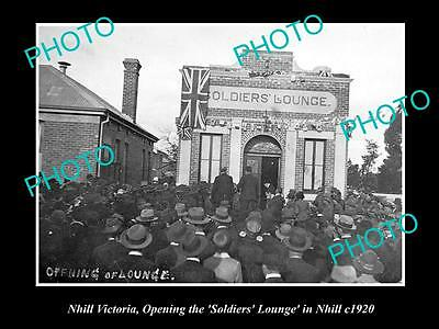 Old Large Historical Photo Of Nhill Victoria Opening Of The Soldiers Lounge 1920