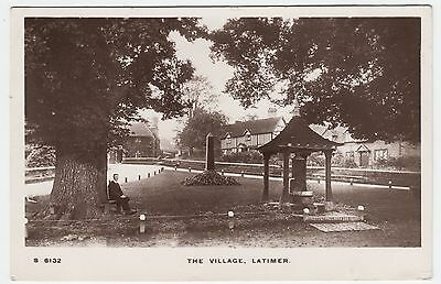 LATIMER VILLAGE - 1913 used Real Photo Buckinghamshire postcard - Kingsway S6132