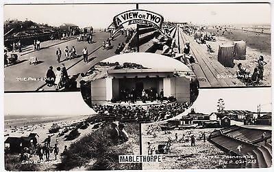 A  VIEW OR TWO FROM MABLETHORPE - 1958 used Lincolnshire Real Photo postcard
