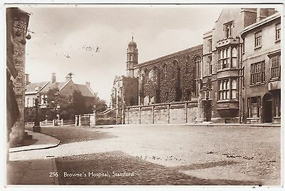 STAMFORD - Browne's Hospital - 1925 used Real Photo Lincolnshire postcard