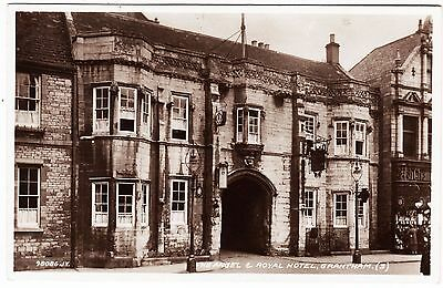 GRANTHAM - Angel & Royal Hotel - 1940 used Lincolnshire Real Photo postcard
