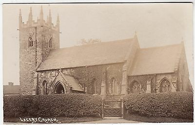 LACEBY CHURCH - Grimsby - c1900s era Real Photo Lincolnshire postcard