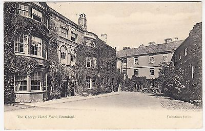 STAMFORD - The George Hotel Yard - 1907 used Lincolnshire postcard